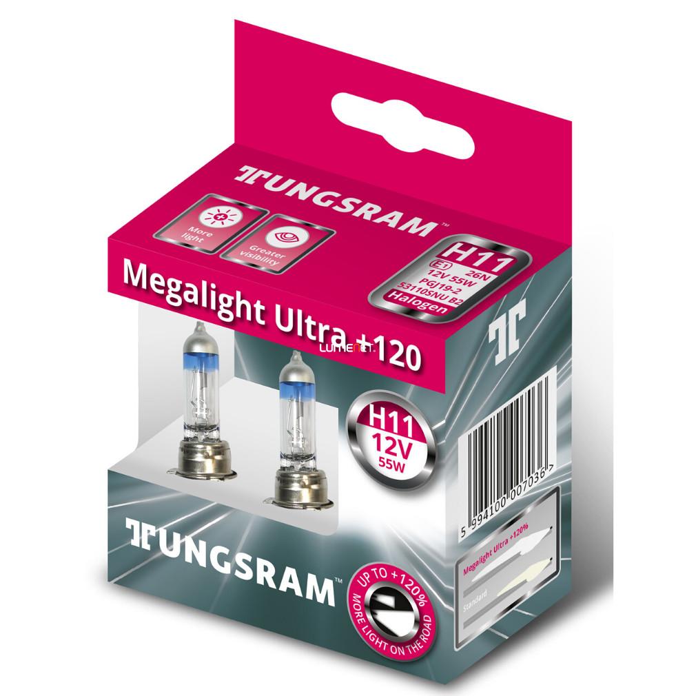 Autožárovky TUNGSRAM MEGALIGHT ULTRA +120% H11 - 2 kusy