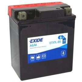 Motobaterie EXIDE ETX7L-BS, 12V, 6Ah, 100A