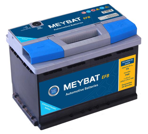 Autobaterie MEYLE EFB70 70Ah, 12V (START&STOP)