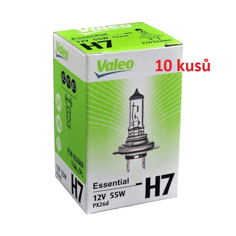 10ks - Autožárovka VALEO Essential H7 PX26d 12V 55W - 10ks
