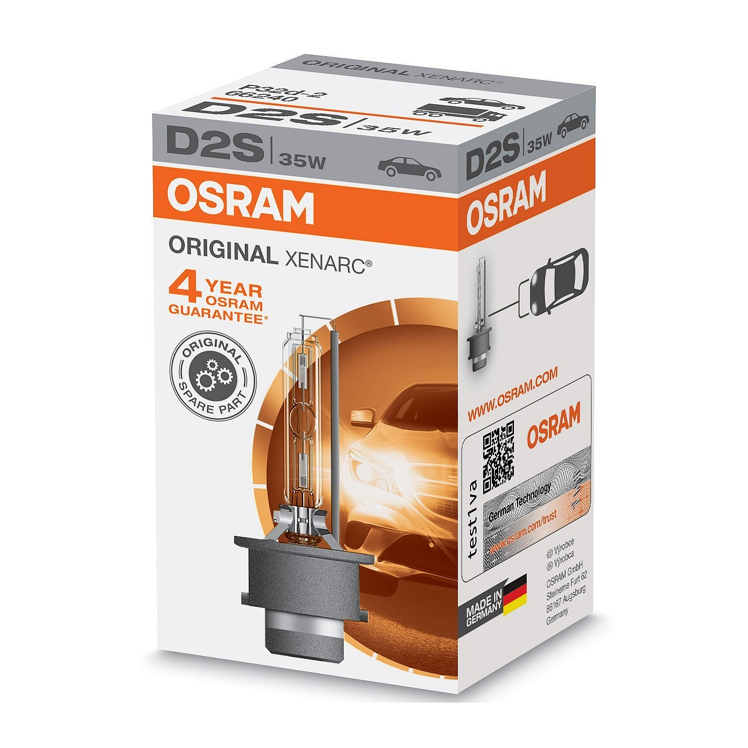 Xenononová výbojka OSRAM D2S 35W P32d-2 XENARC ORIGINAL (66240)