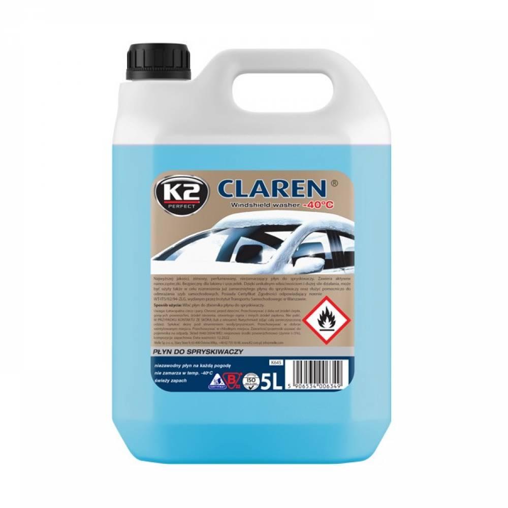 Zimní směs do ostřikovačů K2 CLAREN - 5L (-22°C)