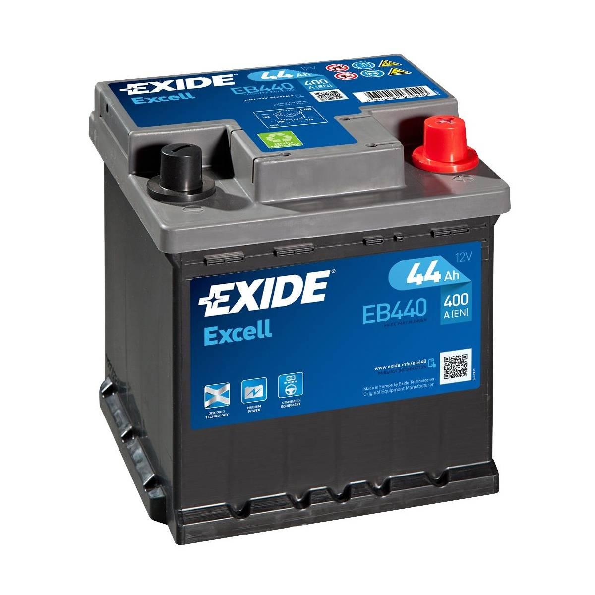 Autobaterie Exide Excell EB440 - 44Ah, 12V