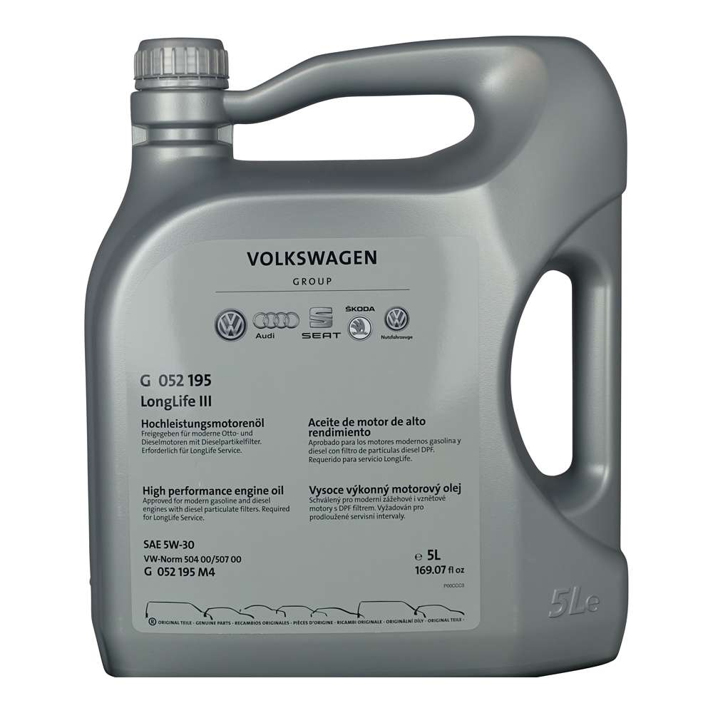 Motorový olej VAG 5W-30 LongLife Originál G052195 - 5L
