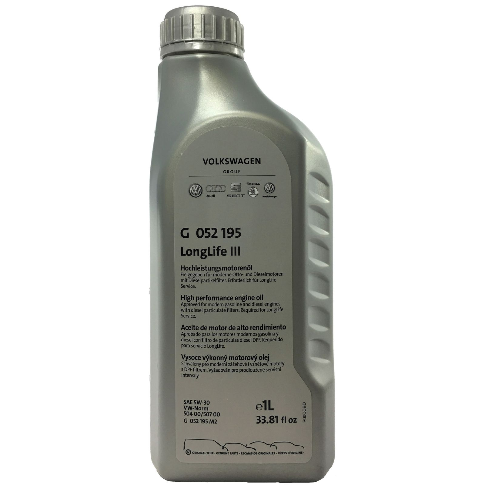 Motorový olej VAG 5W-30 LongLife Originál G052195 - 1L
