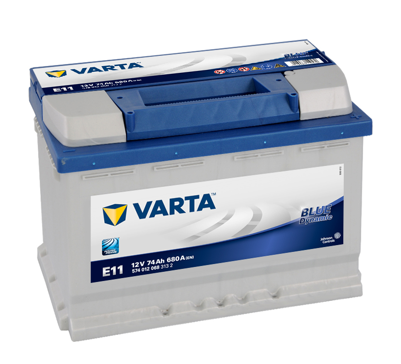 Autobaterie VARTA BLUE Dynamic 74Ah, 12V, E11